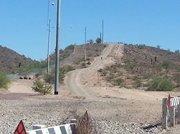 This is a daytime shot of the hill the old guy was pointing to.