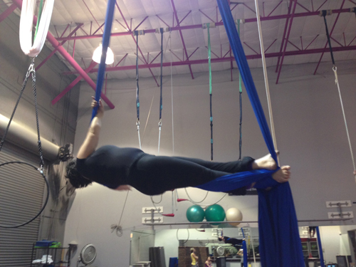 This is my instructor, Rachel, doing it.