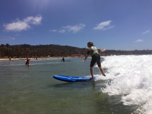 Offspring surfing! And not drowning!